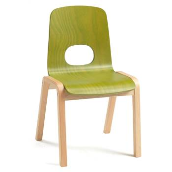 Scala children's chair, H 340 mm, beech, green