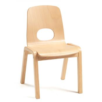 Scala children's chair, H 340 mm, beech, beech