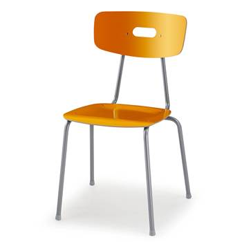 Ave canteen chair, H 440 mm, yellow