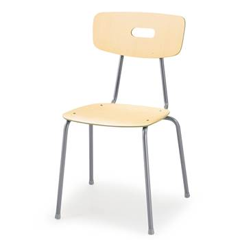 Ave canteen chair, H 440 mm, birch