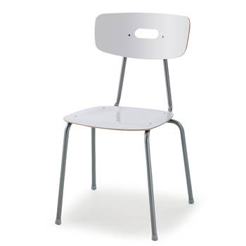 Ave canteen chair, H 440 mm, white