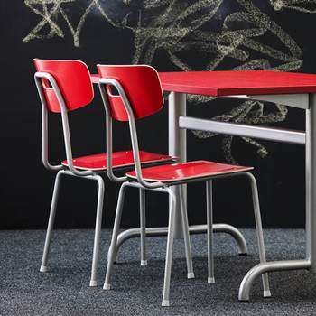 Ave canteen chair, H 440 mm, red