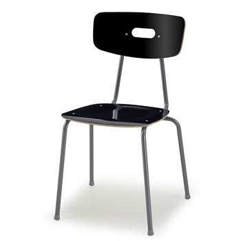 Ave canteen chair, H 440 mm, black
