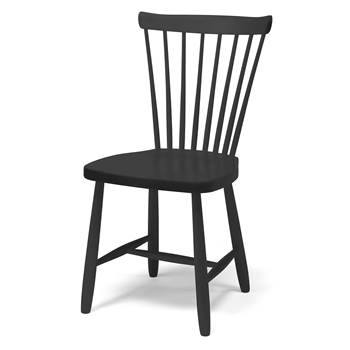 Anna wooden children's chair, H 460 mm, black
