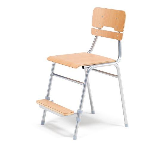 Oppilastuoli Addito I, Pyökki, istuinkorkeus 500 mm, istuin