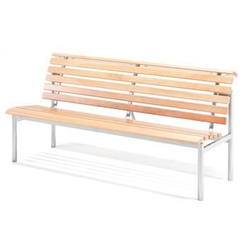 Bänk Aurora, 3-sits, silver, bok