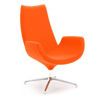 Modern lounge chair, orange