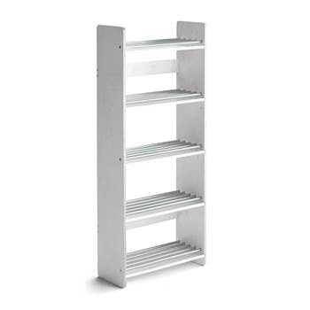 #en Shoerack Isa 600x250xh.1400 mm. Tinted white