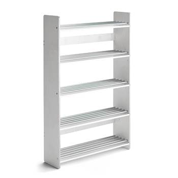 Isa shoe rack, 900x250x1400 mm, white