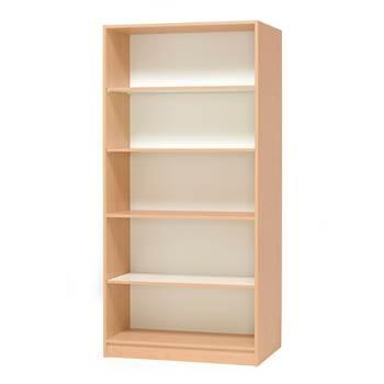 #e- Bookshelf beech melamine 1000x450xh.2100