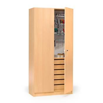 Wooden tool cabinet, 1000x470x2100 mm, beech