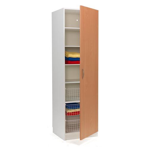 #sv Garderob vit/bok högerhängd dörr 600 x 600 x 2100 mm.