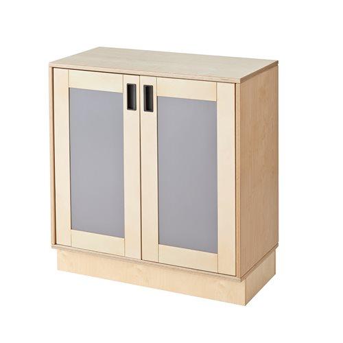 #sv Förvaringsskåp björkkryssfanérnatur med dörr, grå fyllni