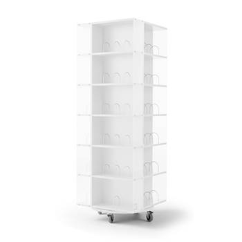 Astrid mobile book display rack, 560x560x1650 mm, white