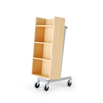Bike bookcase trolley, 520x480x1090 mm, birch