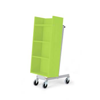 Bike bookcase trolley, 520x480x1090 mm, green
