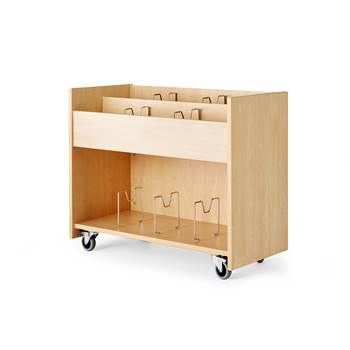 Småland book trolley, 860x400x650 mm, birch