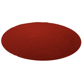 Ludde round play mat, Ø2000 mm, red