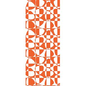 Noise absorbing wall tapestry, 650x2200 mm, abstract, orange and white