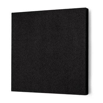 Noise absorbing panels, square, 600x600x50 mm, black
