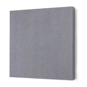 Noise absorbing panels, square, 600x600x50 mm, light grey