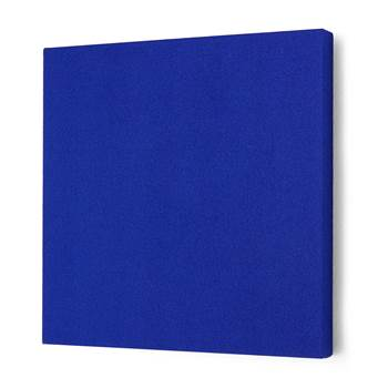 Noise absorbing panels, square, 600x600x50 mm, blue