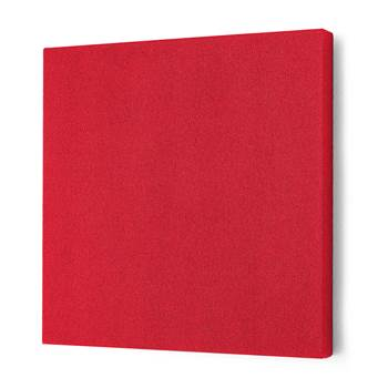 Noise absorbing panels, square, 600x600x50 mm, red