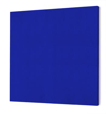 Noise absorbing panels, square, 1180x1180x50 mm, blue