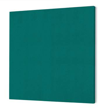Noise absorbing panels, square, 1180x1180x50 mm, green