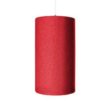 Ozdobny panel akustyczny, walec, czerwony