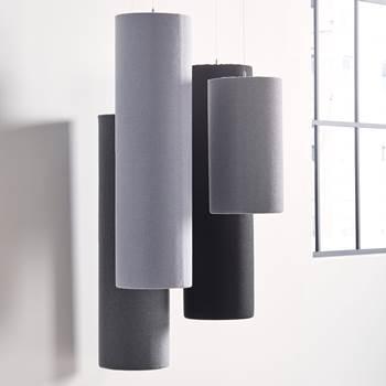 Ozdobny panel akustyczny, walec, ciemnoszary