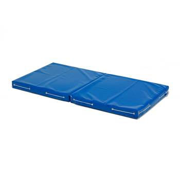 Folding play mat, vinyl cover, blue
