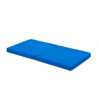 Folding play mat, fabric cover, blue