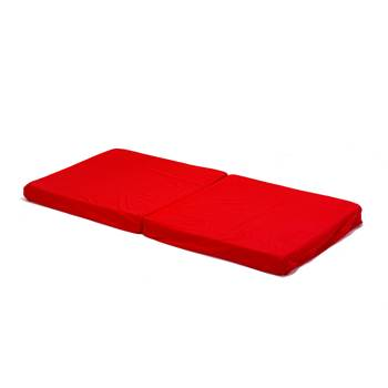 Folding play mat, fabric cover, red