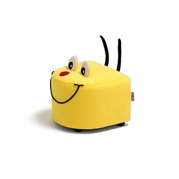 Caterpillar sofa, head, 360x360x270 mm, yellow