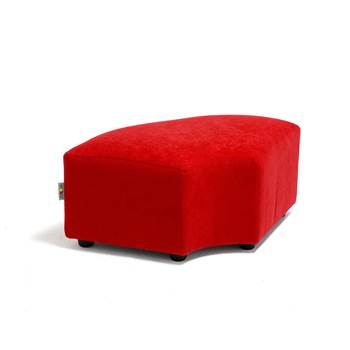 Caterpillar sofa, corner unit, 720x400x270 mm, red