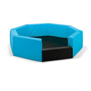 Octagonal foam pit, nylon cover, black, blue