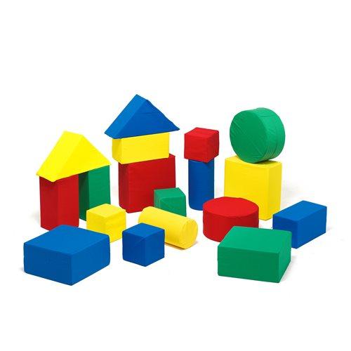 Foam building blocks, 18 piece set, combination 3