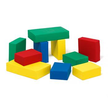 Foam building blocks, 10 piece set, combination 1