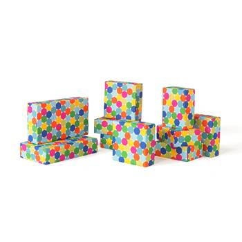 Polka dot foam building blocks, 10 piece set