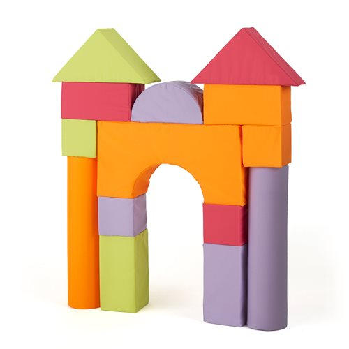 Pastel foam building blocks, 14 piece set, combination 2