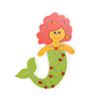 Interactive motor skills learning wall, mermaid
