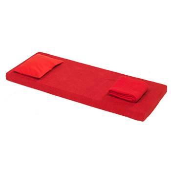Zestaw z materacem Nattis, zimna pianka, czerwony