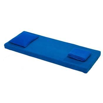 Zestaw z materacem Nattis, włókno poliestrowe, niebieski