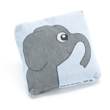#en Cushion Elephant blue background 330x330 mm