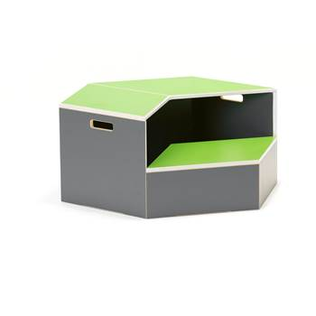 Hexagon staging unit, platform, green
