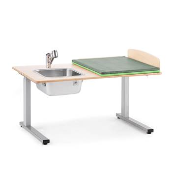 Elit Height-adjustable baby changing table, incl, L/H sink, 1200x800 mm