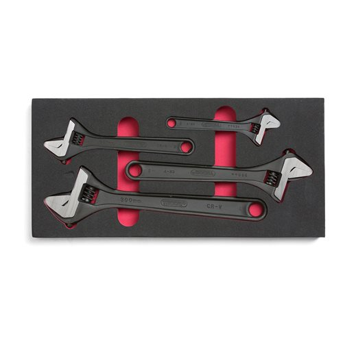 Adjustable wrench set 4-piece