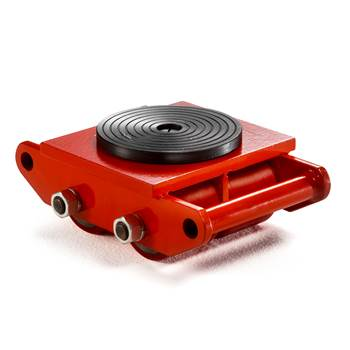 Transport dolly with turntable plate, 6000 kg load