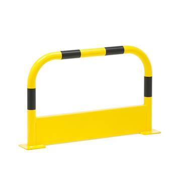 Avspärrningsbarriär, rak, längd: 1000 mm, gul/svart